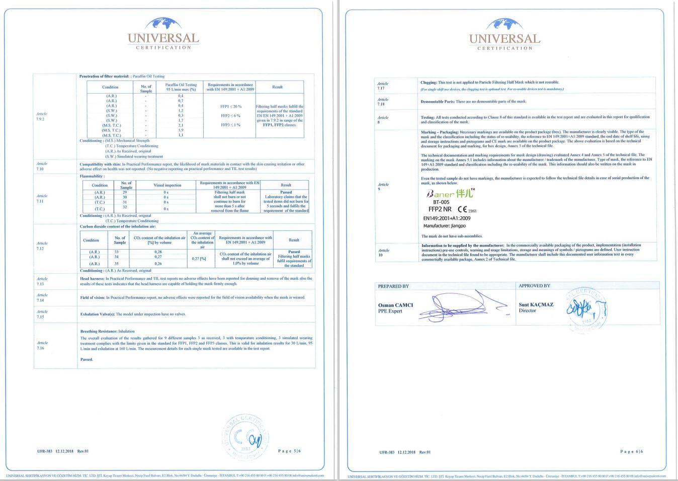 Atemschutzmaske FFP2 Schutzmaske Maske CE EN149:2001+A1:200 Zertifiziert 40 Stück