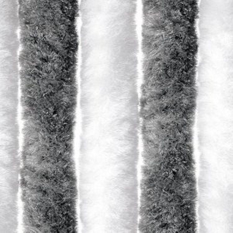 Flauschvorhang Türvorhang 100x200cm Chenille Fliegenschutz Insektenschutz Made Italy Grau/Weiss