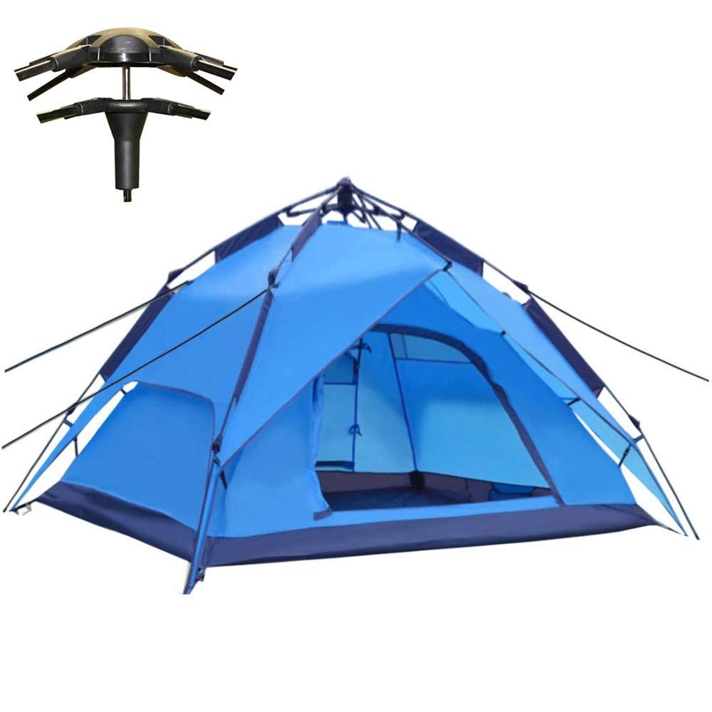Campingzelt Wurfzelt 2-4 Pers. Wasserdicht, Sekundenzelt Kuppelzelt 240x210x135cm BLAU