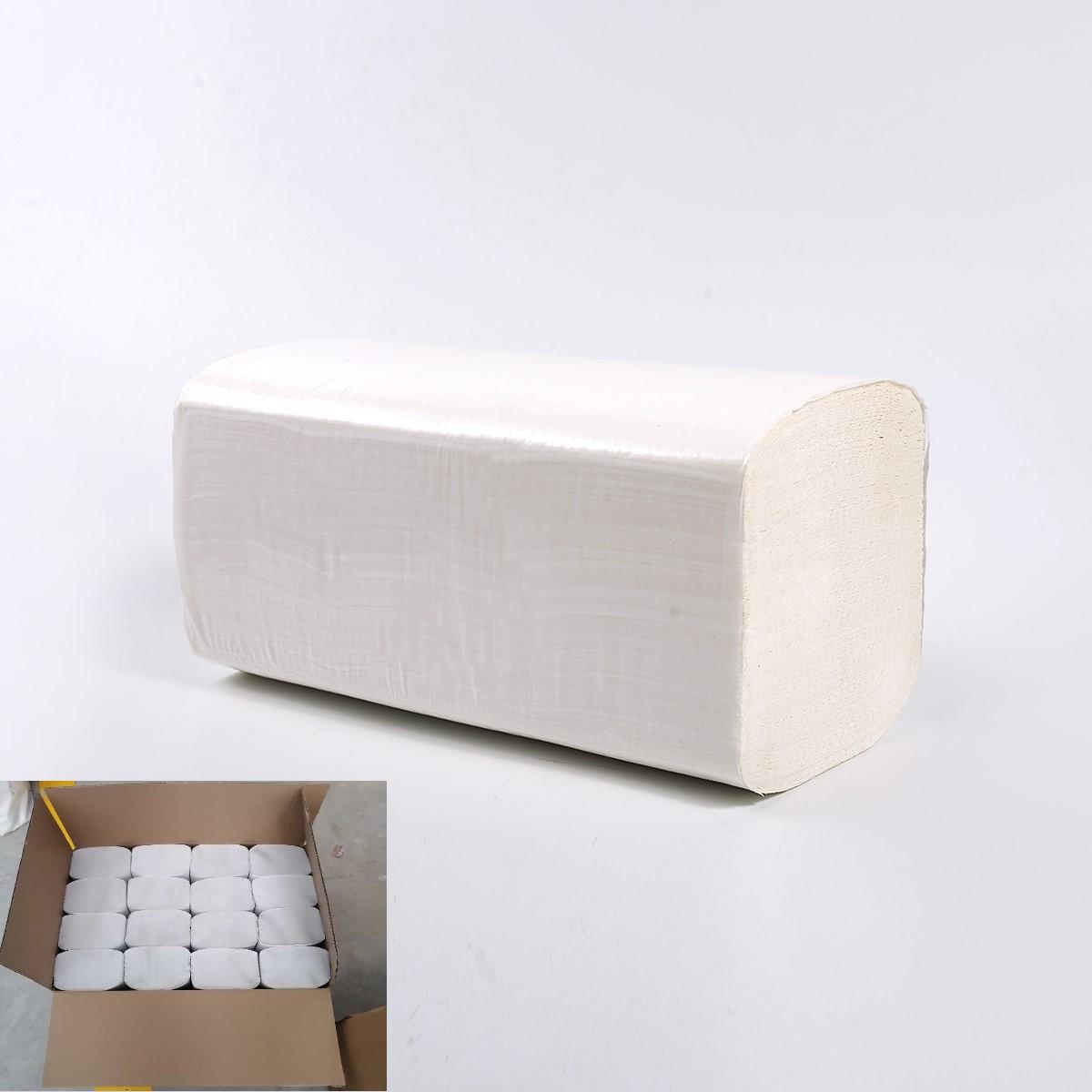Defacto Papierhandtuch, ZZ-Falz, 24 x 21 cm, 2lag, hochweiß, 3200 Blatt