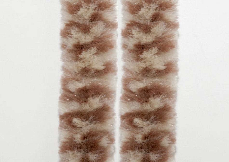 Flauschvorhang Türvorhang 100x200cm Chenille Fliegenschutz Made in Italy Braun/Beige MIX