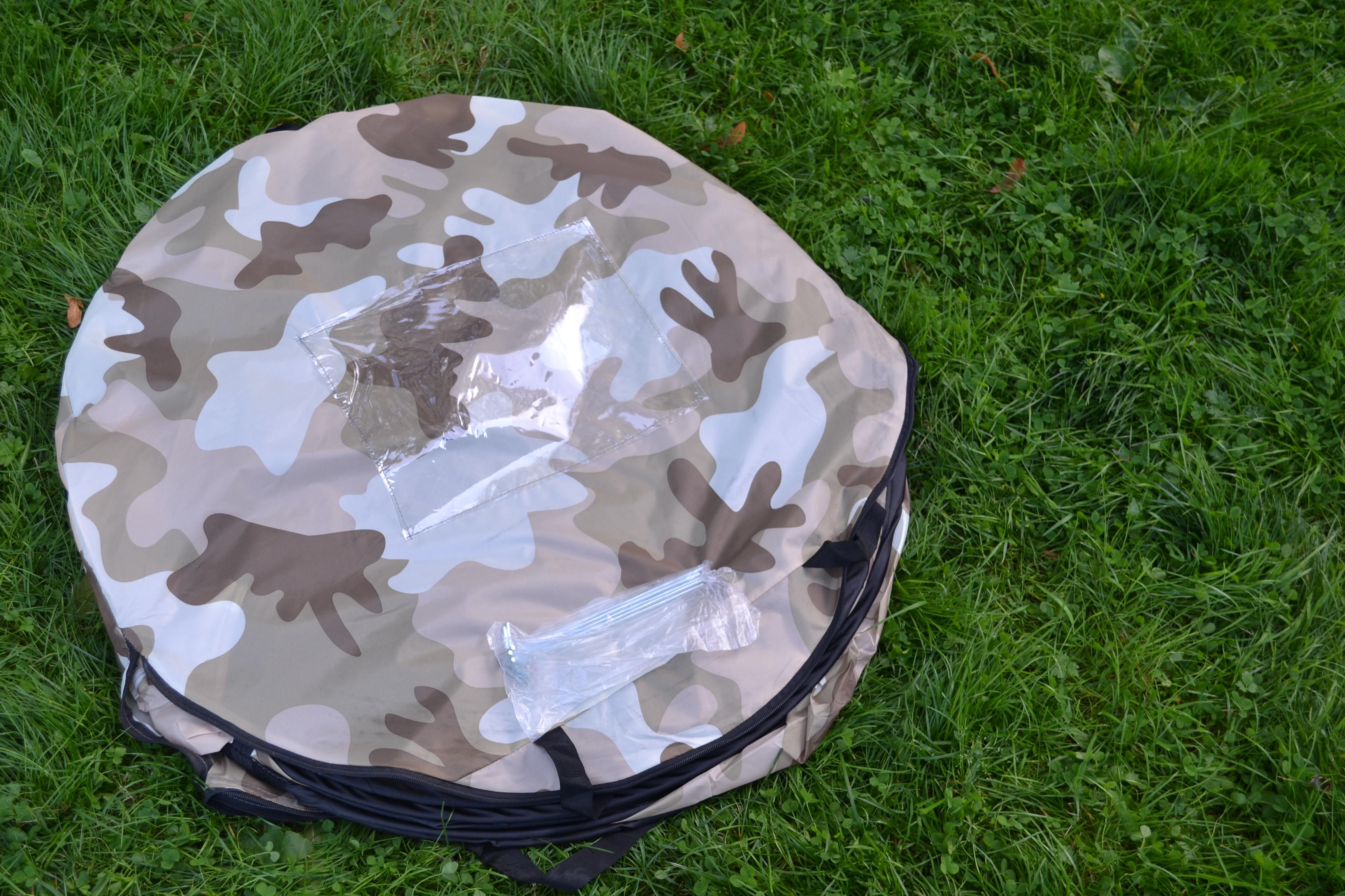 Wurfzelt Sekundenzelt 2-3 Person Outdoor Campingzelt Tent Pop Up 245x145x110cm Hell-Camouflage