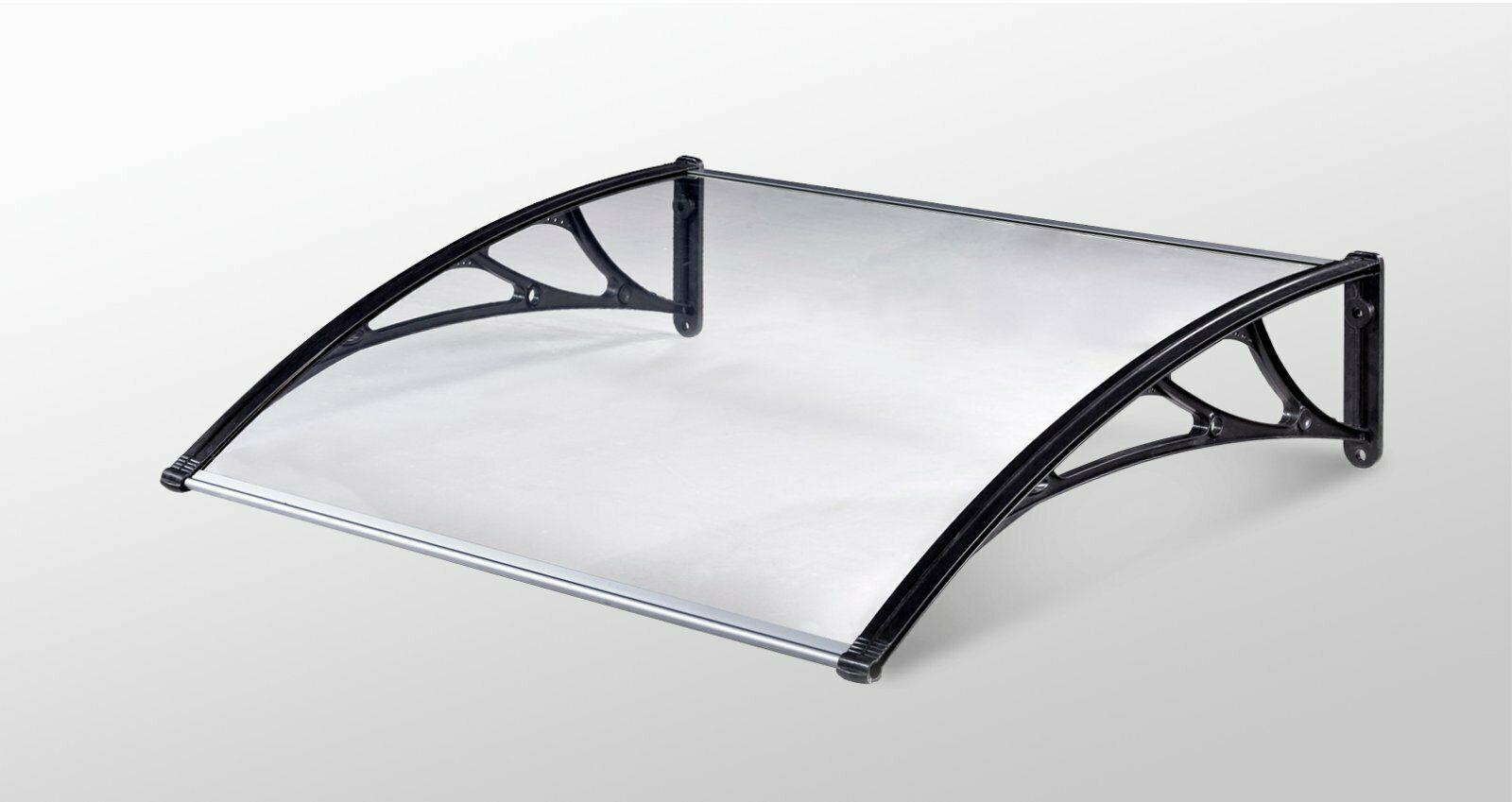 Defacto Vordach gekrümmt Tür Türvordach Haustür Polycarbonat Überdachung HxB 80x60cm DF-600C