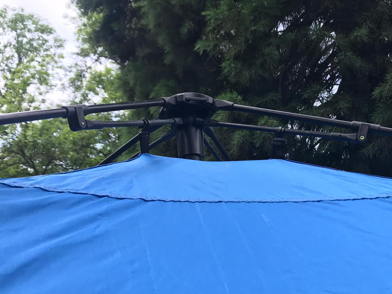 Campingzelt Outdoor Faltbar Pavillon Gartenzelt + 1 Seitenteile Tasche&Herrringe BLAU
