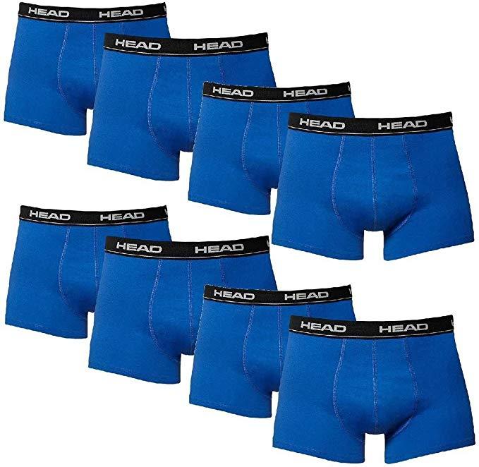 HEAD 10er Pack Boxershorts Herren,  Unterwäsche Boxershort Herrenshort 95% Baumwolle Gr. M Blau/Schw