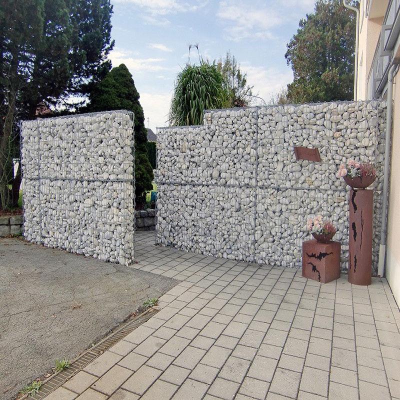 Gabionen Steingabionen 100x95x30cm Steinkorb Gabione Wand Drahtkorb Steinkorb Drahtstärke: 4, Ink Distanzhalterung