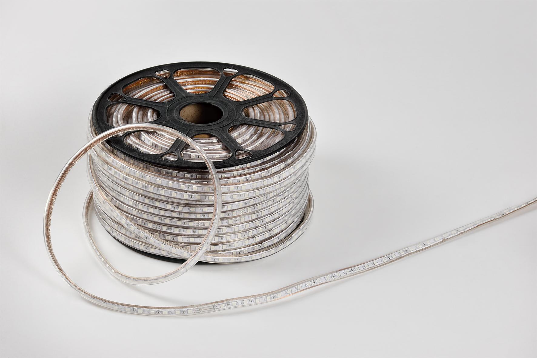 LED Strip 3000K Warmweiß in 100m Lighting 60LEDs LED Leiste IP65 wasserdichte inkl.Trafo