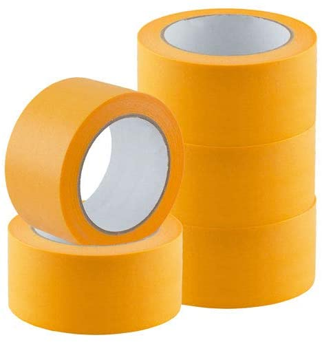 24 Rollen Goldband PLUS 50mmx50m Fineline UV Malerklebeband Malerkrepp Klebeband Tape