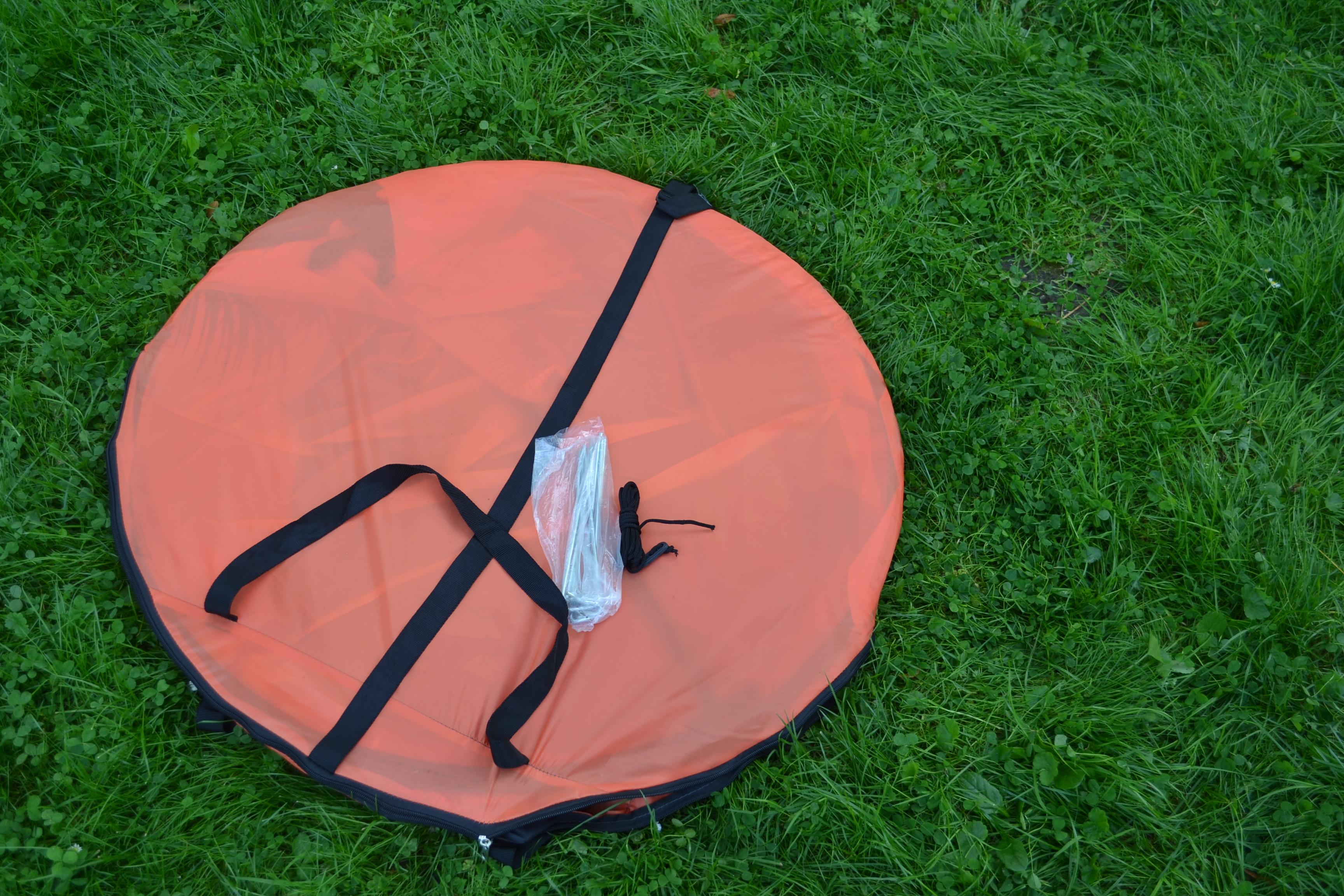Wurfzelt Sekundenzelt 2-3 Person Outdoor Campingzelt Tent Pop Up 245x145x110cm Orange