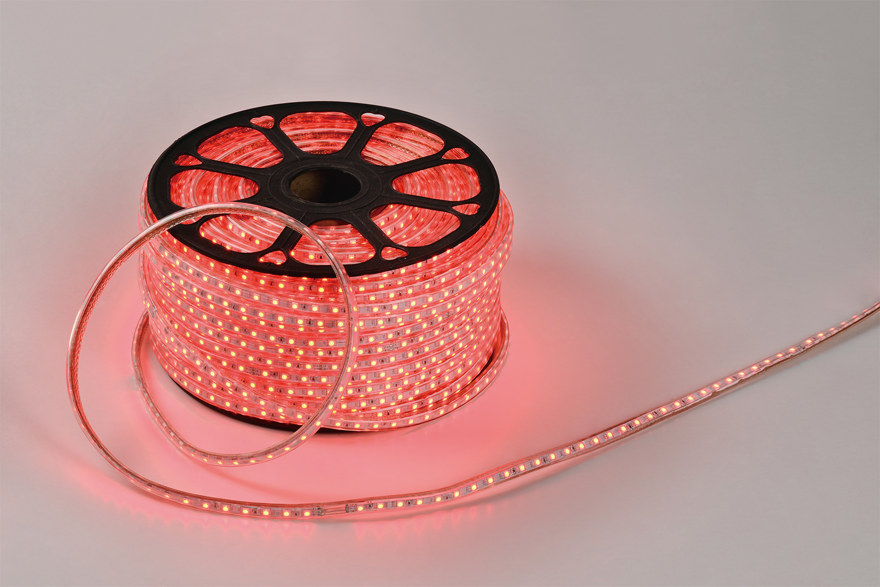 LED Strip 50m RGB Lighting Flexible 5050 60LEDs LED Leiste IP65 wasserdichte Ink.Trafo&Fernbebed.