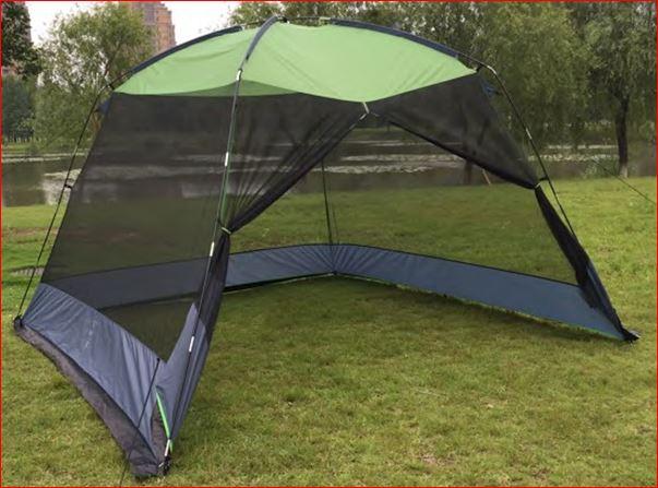 DeFacto Campingzelt Sonnenschutz Pavillon Moskitonetz Gartenzelt Sonnendach Pop Up Zelt -5 Personen