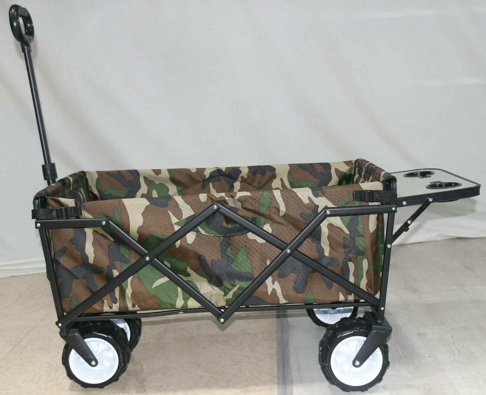 Defacto Faltbarer Bollerwagen Faltwagen Handwagen Außenschubkarre Strandwagen klappbar bollerwagen DF-bul610