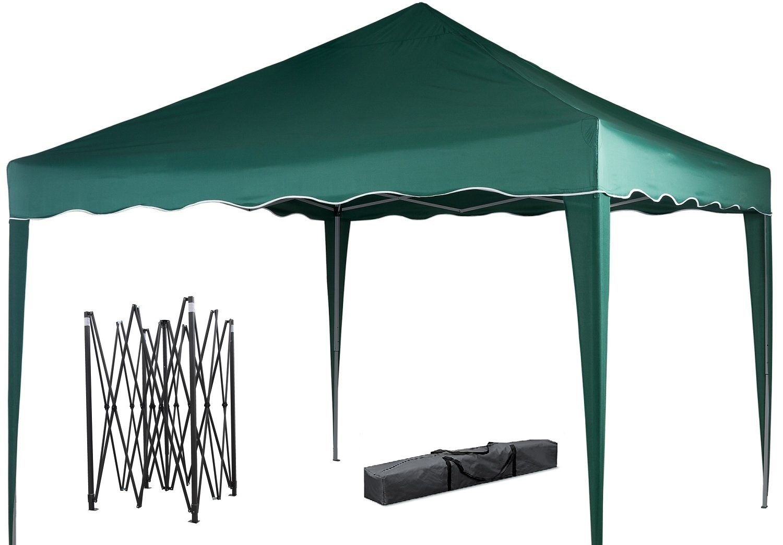 DeFacto Faltpavillon 3x3m Pavillon Gartenzelt ✔ Popup ✔ PVC- 100% Wasserdicht ✔Tragetasche GRÜN