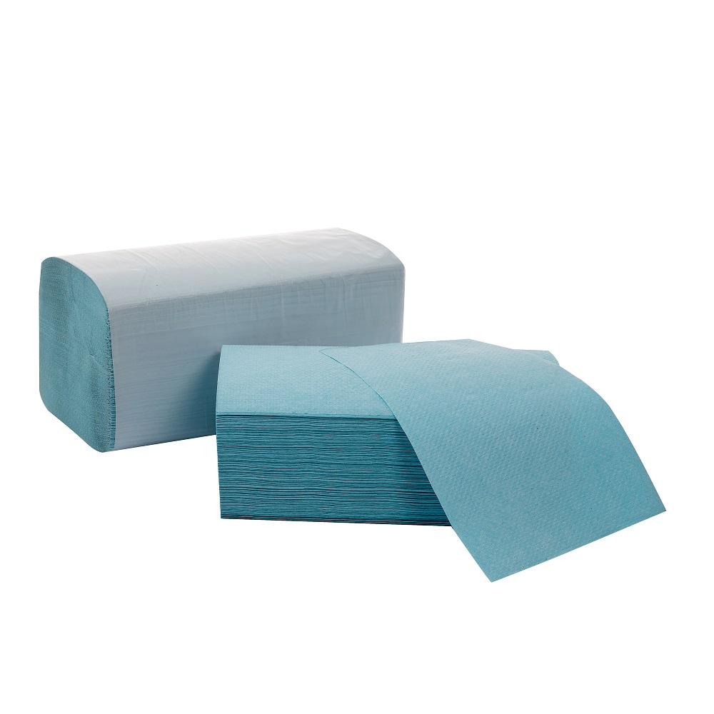 Defacto Papierhandtuch, ZZ-Falz, 24 x 21 cm, 1-Lagig, GRÜN, 4000 Blatt