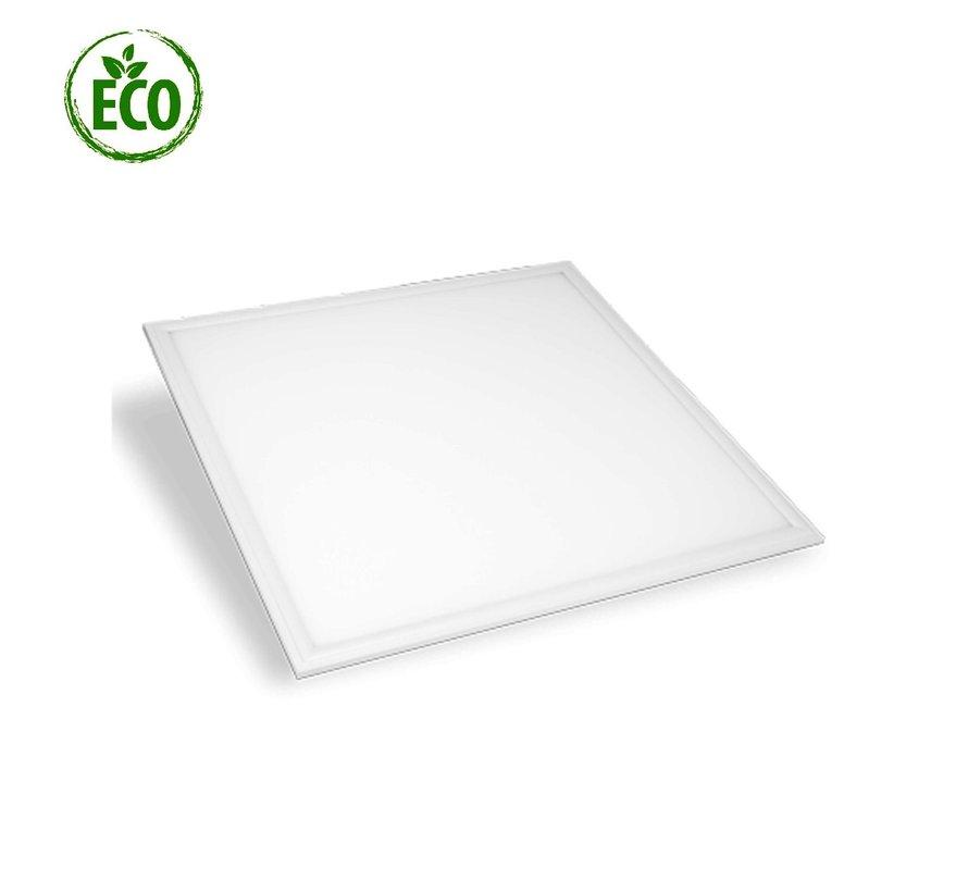 40W Profi LED Panel unterputz 60x60cm Einbaustrahler Rund Leuchte 3000K Warmweiß 3600LM