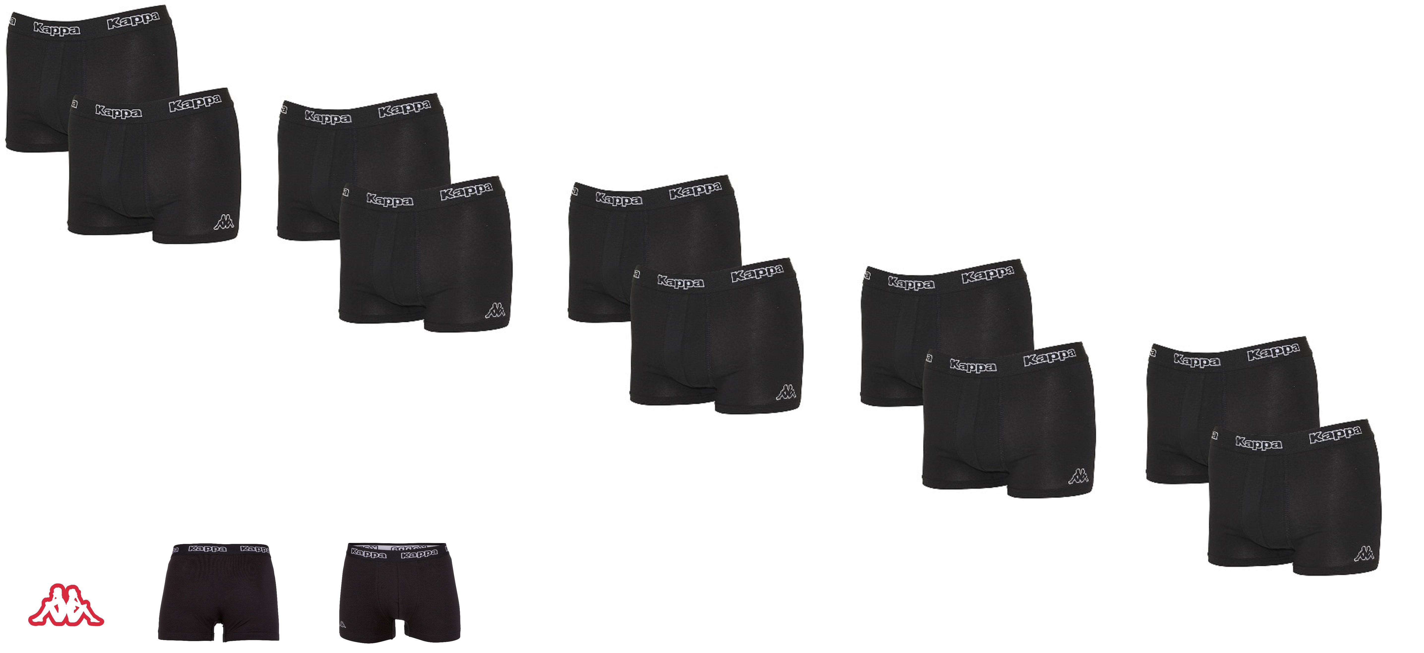 Kappa 10er Pack Boxershorts Herren,  Unterwäsche Boxershort Herrenshort 95% Baumwolle , Gr. S , in S