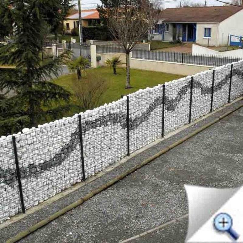 Gabione 100x95x30 cm  Steingabionen Steinkorb Gabione Wand Drahtkorb Steinkorb Drahtstärke:4